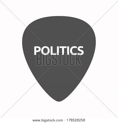 Isolated Guitar Plectrum With  The Text Politics