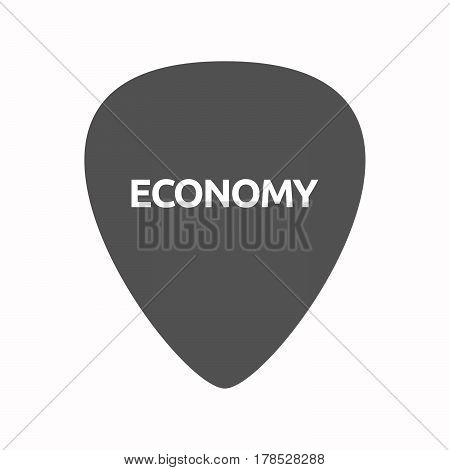 Isolated Guitar Plectrum With  The Text Economy