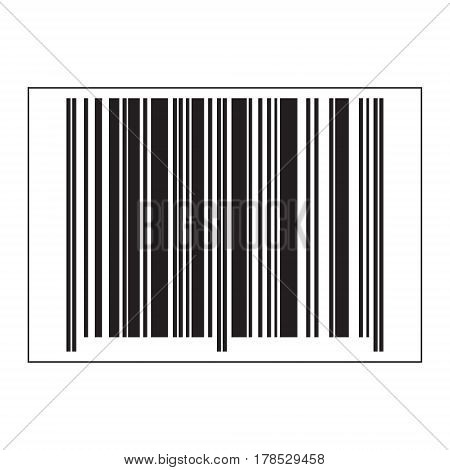 Vector flat icon of a barcode. Black and white isolated object