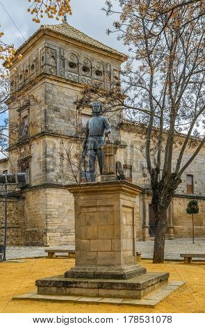 Statue of architect Andres de Vandelvira in Ubeda Spain