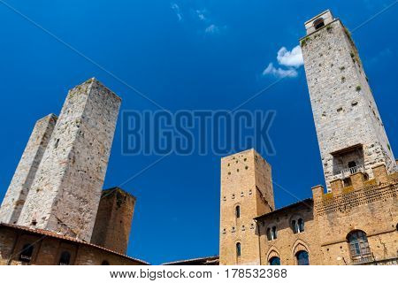 San Gimignano is famous for its old towers