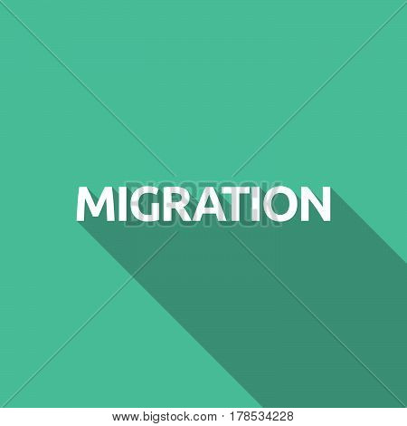 Illustration Of   The Text Migration