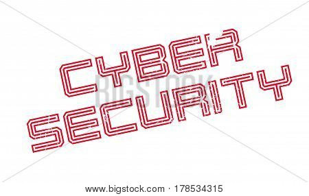 Cyber Security rubber stamp. Grunge design with dust scratches. Effects can be easily removed for a clean, crisp look. Color is easily changed.