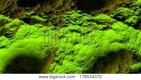 green abstract texture and background of a bumpy surface