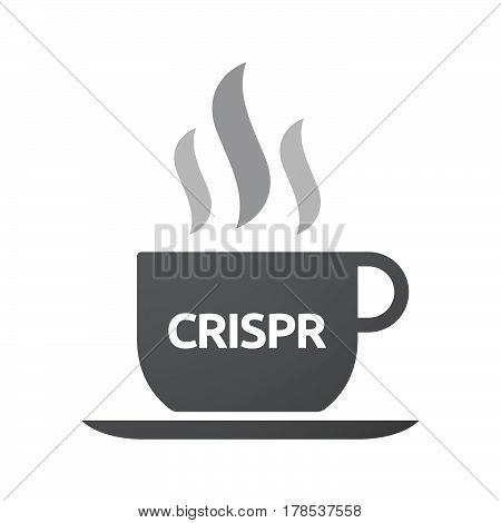 Isolated Coffee Mug With  The Clustered Regularly Interspaced Short Palindromic Repeats Acromym Cris