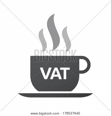 Isolated Coffee Mug With  The Value Added Tax Acronym Vat