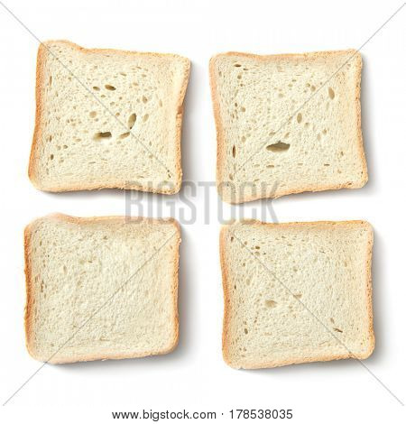 White slices of bread