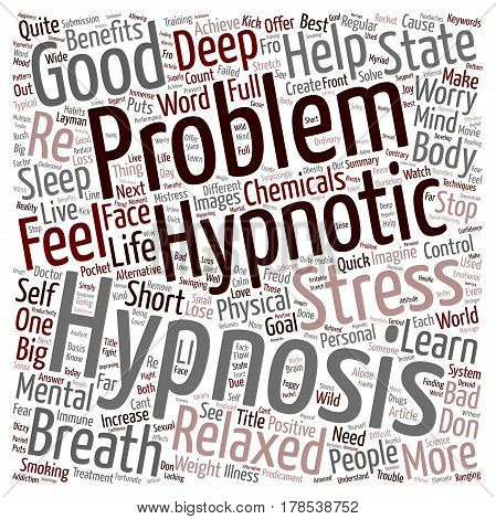 How Hypnosis can help you text background wordcloud concept