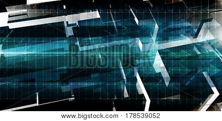 Integrated Systems Concept as a Presentation Background 3D Illustration Render