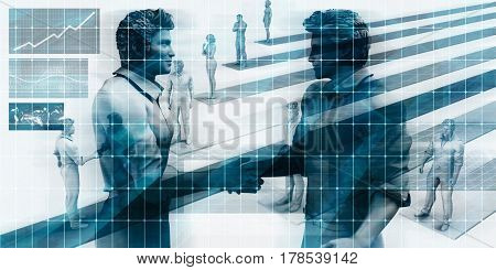 Virtualization Business Technology as an Abstract Background 3D Illustration Render