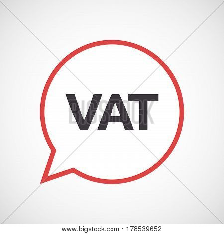 Isolated Comic Balloon With  The Value Added Tax Acronym Vat
