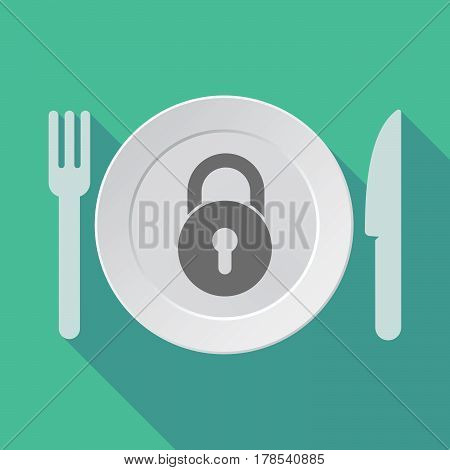 Long Shadow Tableware With  A Closed Lock Pad