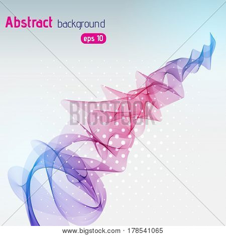 Abstract Vector Waves. Pink, Purple, Blue Lines. Vector Illustratio
