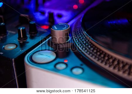 Close Up Professional Dj Audio Equipment - Turntable Vinyl Record Player,spherical Needle For Scratc