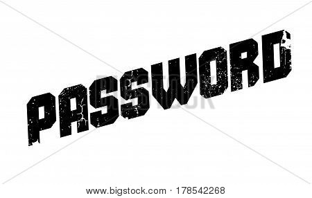 Password rubber stamp. Grunge design with dust scratches. Effects can be easily removed for a clean, crisp look. Color is easily changed.