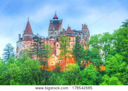 Bran (Dracula) castle of Transylvania in Brasov region Romania Europe