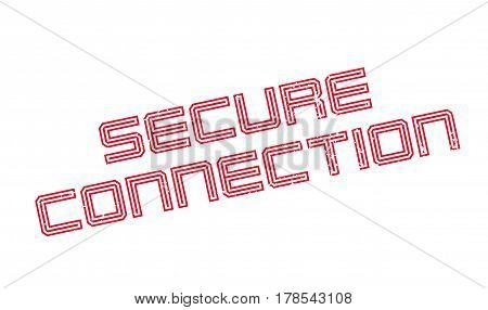 Secure Connection rubber stamp. Grunge design with dust scratches. Effects can be easily removed for a clean, crisp look. Color is easily changed.