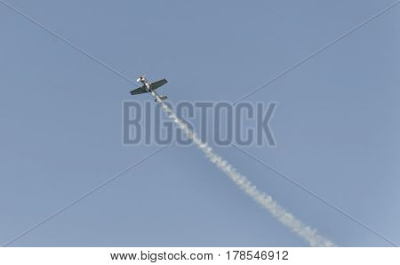 View of plane performs at an airshow