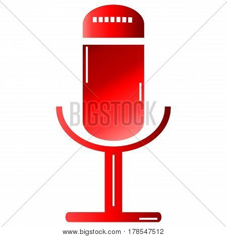 Audio background button clipart concept concert contemporary design flat icon.