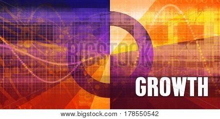 Growth Focus Concept on a Futuristic Abstract Background