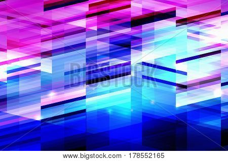 Minimalistic design, creative concept, modern diagonal abstract background Geometric element. Blue, pink and red diagonal lines.