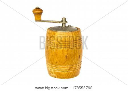 Wood Pepper Mill isolated on white background