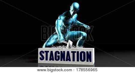 Get Rid of Stagnation and Remove the Problem 3D Illustration Render