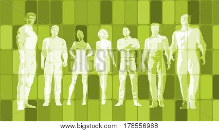 Business People Background as a Group Concept Art 3D Illustration Render