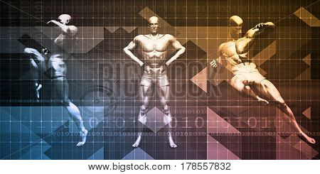 Exercise and Physical Sports for a Healthy Lifestyle 3D Illustration Render