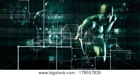 Medical Technology Abstract  3D Illustration Render