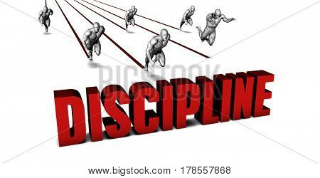 Better Discipline with a Business Team Racing Concept 3D Illustration Render