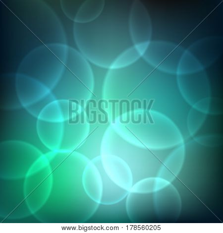 Shining background with light effects. Magic defocused glitter sparkles. Blurred soft backdrop. Vector illustration. EPS10