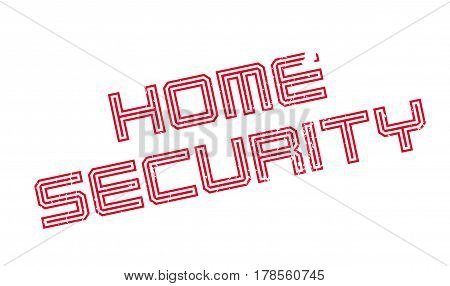 Home Security rubber stamp. Grunge design with dust scratches. Effects can be easily removed for a clean, crisp look. Color is easily changed.