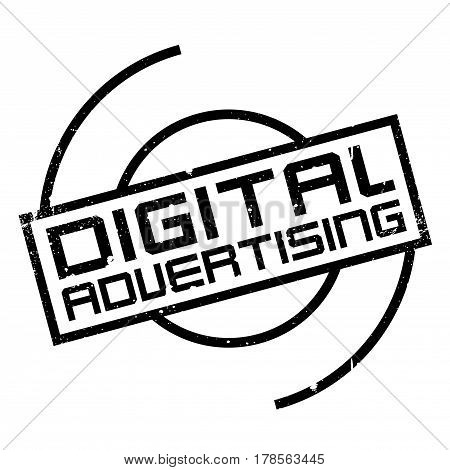 Digital Advertising rubber stamp. Grunge design with dust scratches. Effects can be easily removed for a clean, crisp look. Color is easily changed.