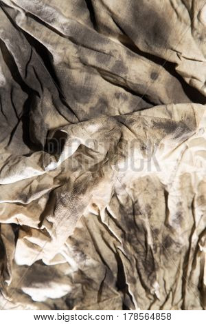 dirty rags in oil as background . Beautiful nature in the open air