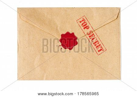 Top secret mail with wax seal high quality and high resolution studio shoot