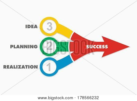 Keys for success abstract business illustration with arrows