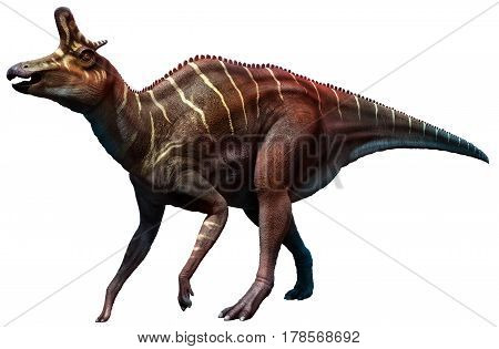 Lambeosaurus dinosaur from the Cretaceous era 3D illustration