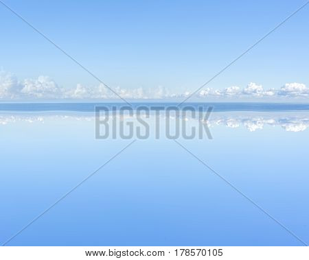 View of beautiful sky ans calm on the sea.