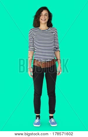 Woman Smiling Standing Full Body