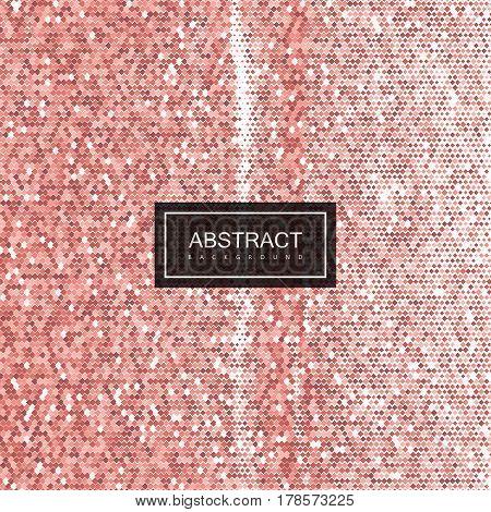 Halftone vintage rose gold texture. Vector illustration of grunge halftone pattern