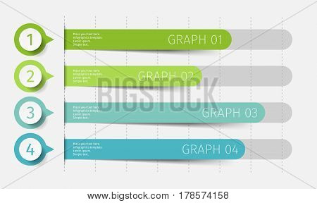 Modern 3d chart, graph. Template for diagram, presentation and chart. Infographics elements. Vector
