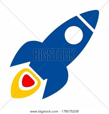Space Rocket flat vector pictogram. Flat style.