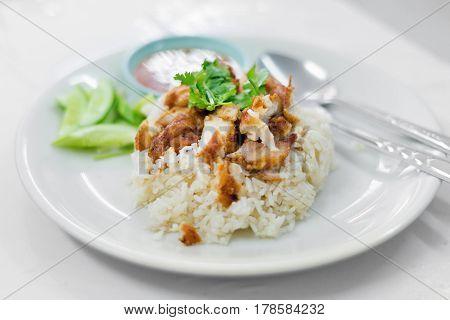 Thai Crispy Chicken With Rice