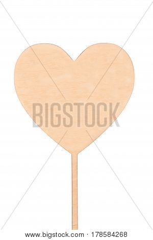 wooden heart with space for text isolation