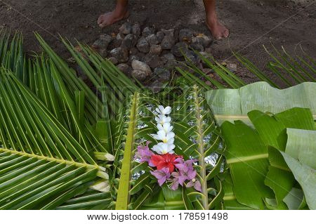 Fijian Food Lovo In Fiji Islands
