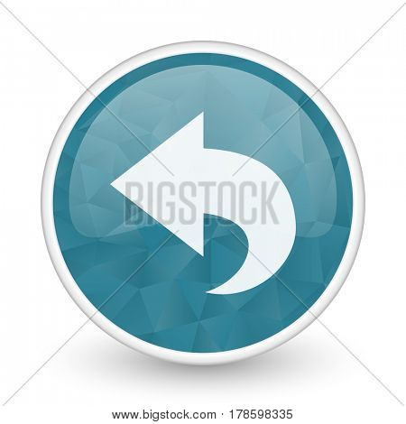 Back brillant crystal design round blue web icon.