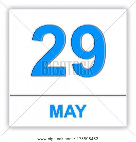 May 29. Day on the calendar. 3D illustration