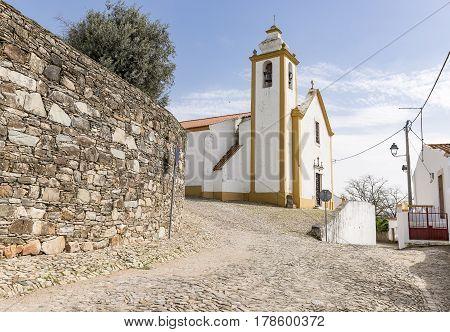 Nossa Senhora das Candeias parish church in Cabeco de Vide town, Fronteira, Portalegre District, Portugal