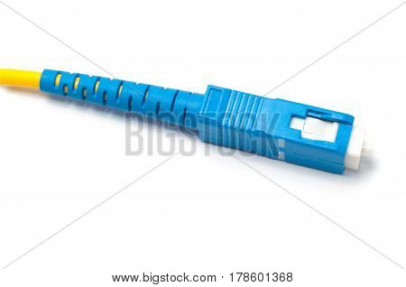 Wire, plug connector for internet optical fiber